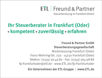ETL Freund & Partner - Ihr Steuerberater in 15230 Frankfurt (Oder)